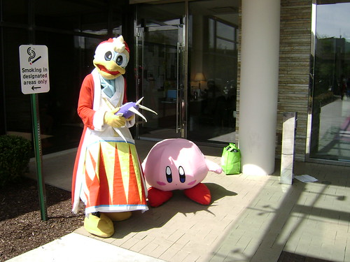 Kirby fursuiters