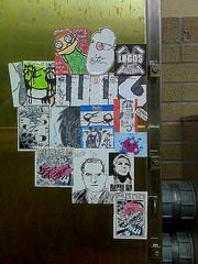 weathered (?JABZ?) Tags: street streetart art graffiti mono stickerart 66 graff tallahassee inc biafra combos jabs asem postallabel noxin jabz ceito luckone 7logos flfortwaltonbeachfloridajabzjabzzjabsstreetartstickerartcombosxxxedge666tacos