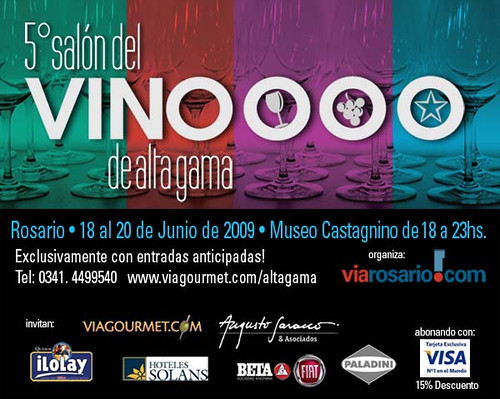Rosario: 5º Salón del Vino de Alta Gama