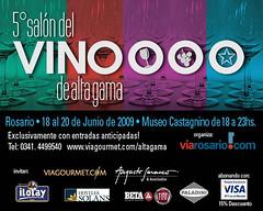 Rosario: Se viene la quinta edición del Salón del Vino de Alta Gama