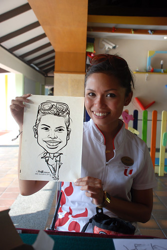 Caricature live sketching for Costa Sands Resort Pasir Ris Day 1 - 1