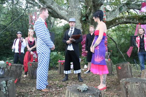 Non Traditional Red Wedding Dresses: Abi & Travis' Love Declaration Celebration