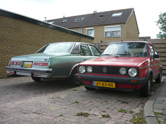 1978 Chervrolet Nova Concours + 1983 VW Golf Mk.I C (Vinylone - ISCE = On Trade Break) Tags: nova vw golf c 1978 1983 concours seen chervrolet mki hoogowud