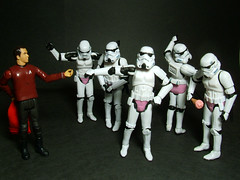 Scotty vs. Stormtroopers - In the Pink (Doctor Beef) Tags: startrek toy actionfigure starwars stormtroopers scotty practicaljoke