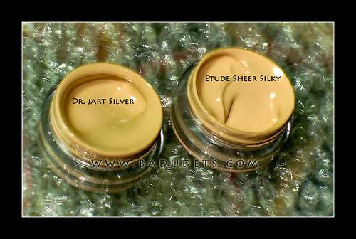 Dr. Jart Silver and Etude Sheer Silky sample