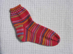 Red striped sock