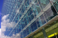 Wall Of glass (albireo2006) Tags: uk blue wallpaper england reflection glass wall clouds wow manchester background curtainwall spinningfields wallofglass platinumheartaward