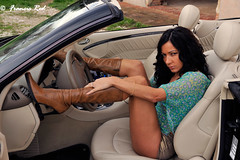 Elena car girl #6 (Francis_Red) Tags: look car fashion photography mercedes photo model glamour nikon elena brunette d3 hotpants