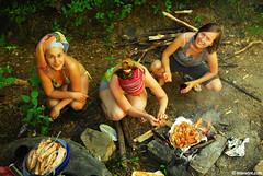 ladies in the woods (.:: Maya ::.) Tags: mountain green eye maya outdoor hiking bulgaria bulgarie hobbie  mayaeyecom mayakarkalicheva  wwwmayaeyecom