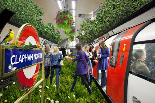 Clapham North in Bloom images by Transport for London