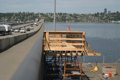 I-90 temporary bicycle pedestrian bridge 5