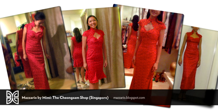 wedding cheongsam red lace group