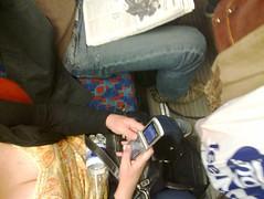 Spotted: Motorola RAZR on the tube!
