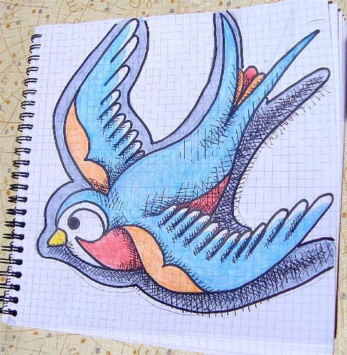 Swallow drawing