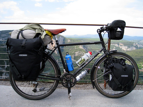 Cycling through Gorges de L'Ardeche
