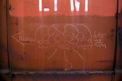 4DC * A2M (TRUE 2 DEATH) Tags: railroad streetart train skulls skull graffiti tag graf railcar boxcar railways hobo railfan freight dept freighttrain 4dc moniker a2m hobotag hobomoniker benching freighttraingraffiti