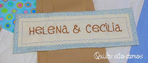 Coin quilt #4: etiqueta bordada