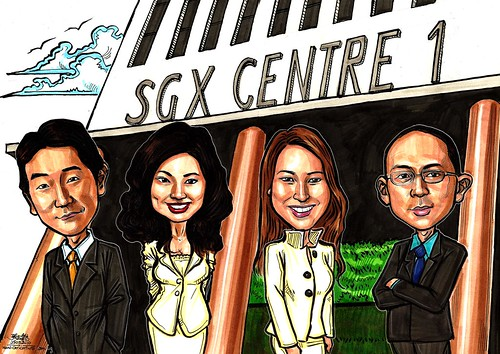 Caricatures for Singapore Exchange & CNBC A3