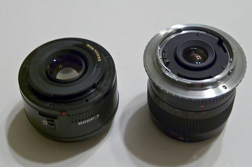 50mm / 55mm comparison
