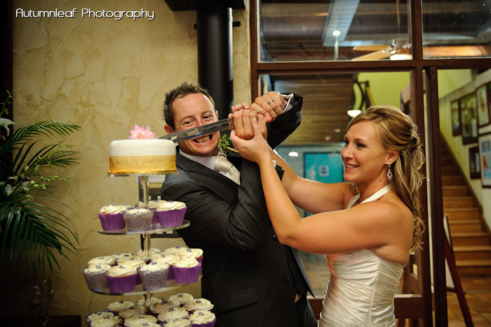 Yanthe & Mark - Cake Cutting... with a sword