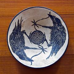 Raven Blessing Bowl (wplynn) Tags: art indiana raven corvid newharmony corvids