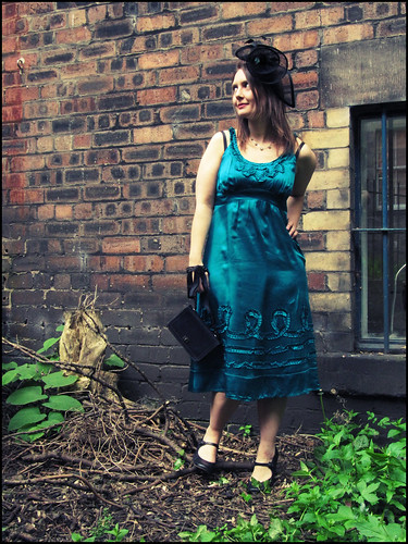 Wedding guest outfit turquoise and black