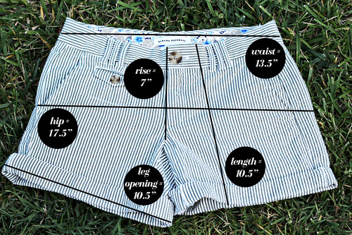 Banana-Republic-Shorts-Measurements