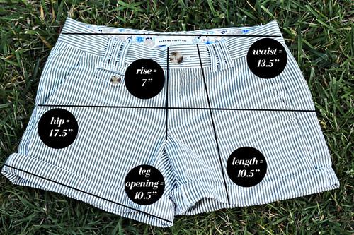 Banana-Republic-Shorts-Measurements
