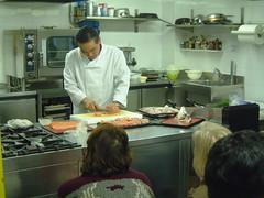 Maestro Shikata al corso di Sushi 2005