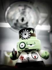 The Dr is in! (KayVee.INC) Tags: cute green toy toys theatre bokeh designer zombie january kidrobot doctor montypython kawaii doc 2009 operating operatingroom operatingtheatre fatcap cavey kayvee doctordoctordoctor msh1009 kayveeinc itstakeninarealhospitaloperatingtheatre 090109 msh10092