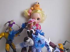 Lilica adorou seus novos amigos monstros