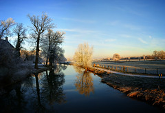 Winter - Kromme Rijn, Amelisweerd, Rhijnauwen, Utrecht (lambertwm) Tags: blue schnee trees winter panorama white snow cold holland reflection nature netherlands beauty sunshine contrast reflections river landscape frozen vinter utrecht frost quiet hiver nieve sneeuw nederland peaceful sunny bluesky frosty brina neve photomerge neige icy bas eis inverno    pays sn stitched gel hielo amelisweerd clearsky glace winterwonderland landschap viewcount rhijnauwen krommerijn ghiaccio geada helada nvoa fozen escarcha