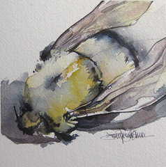 buzz kill (Jennifer Kraska) Tags: art pen watercolor jennifer bee ballpoint kraska