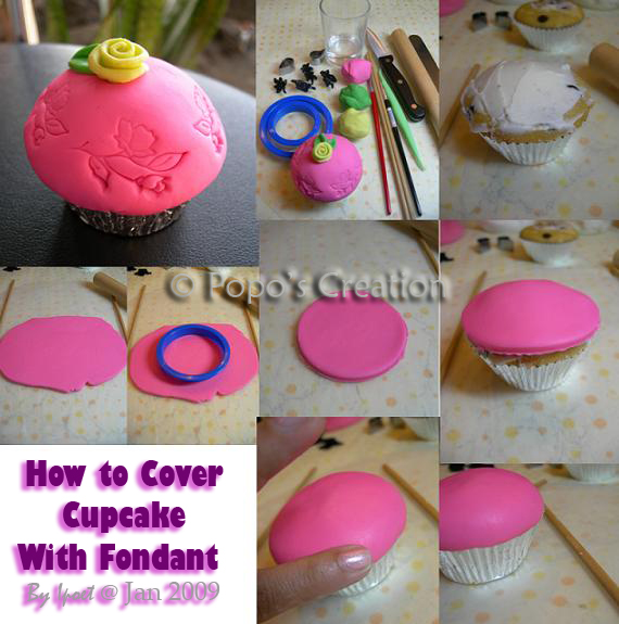 [Tutorial] How to cover cupcake with Fondant