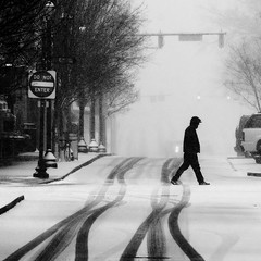 (beebo wallace) Tags: blackandwhite bw snow superfantastique greenvillenc