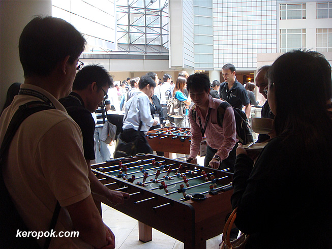 Sun Developers and Foosball