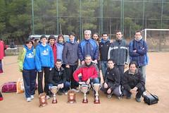 El equipo y sus trofeos