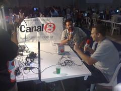 Canal 8 gravando um programa