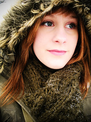 (dustypaw) Tags: winter portrait woman selfportrait canada cold girl nikon coolpix s550