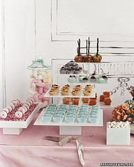 Weddings, Food: Dessert Buffet (camillestyles) Tags: wedding willywonka favors whimsical dessertbuffet candyshop marthastewartweddings