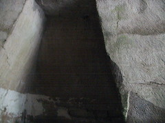 "Inside the ""Ear"", which is really a cavern quarried for building stone."