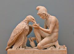Leipzig (eagle-ffm) Tags: city boy sculpture white art museum germany deutschland eagle adler skulptur leipzig sachsen stadt weiss junge saxonia