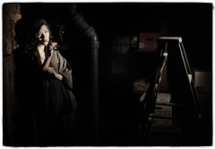 Lady in Black (Ryan Brenizer) Tags: portrait newyork sexy model nikon lydia february lowkey 2009 whiteplains videolight d700 sigma50mmf14ex