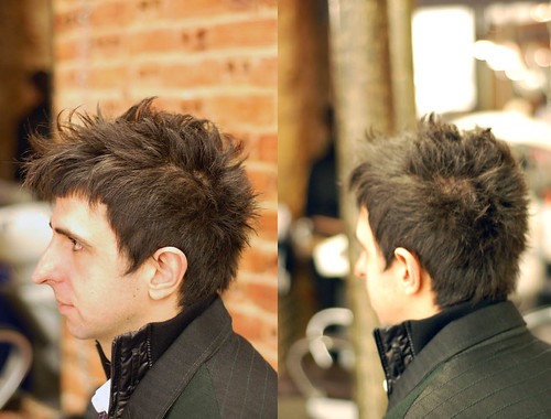 messy hairstyles men. haircut male short messy by