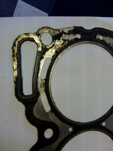 Failed left Side Subaru  Head Gasket