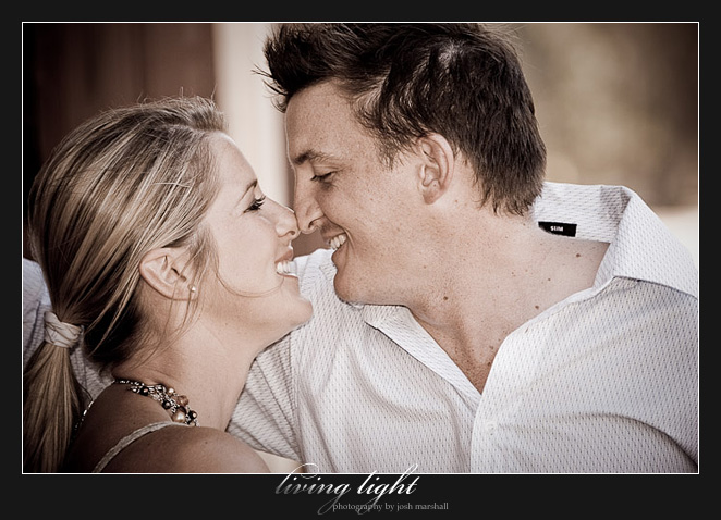 Eskimo kisses. Engagement session at Speers Point, Lake Macquarie, Newcastle.