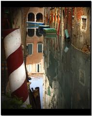 Venetian details (giorgio-pix) Tags: venice light shadow reflection wall boats ambience nikond200
