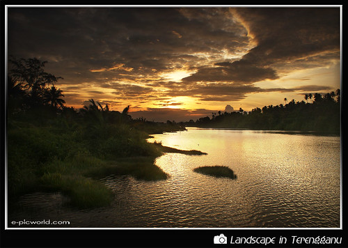 sunset at losong picture