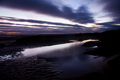 Purple Rain (BarneyF) Tags: longexposure sky seascape motion reflection water liverpool dusk wirral westkirby afterglow merseyside hilbreisland deeestuary