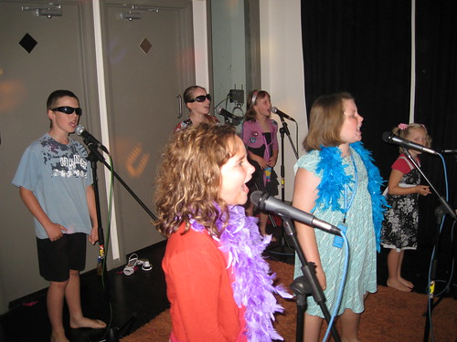 Singing at the Popstar Party